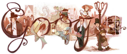 "Google's doodle marked the 200th anniversary of the birth of literary icon Charles Dickens. <br><b>More:</b> <a href=""http://latimesblogs.latimes.com/nationnow/2012/02/charles-dickens-google-doodle.html"" target=""_blank"">Some things you may not know about Charles Dickens</a>"