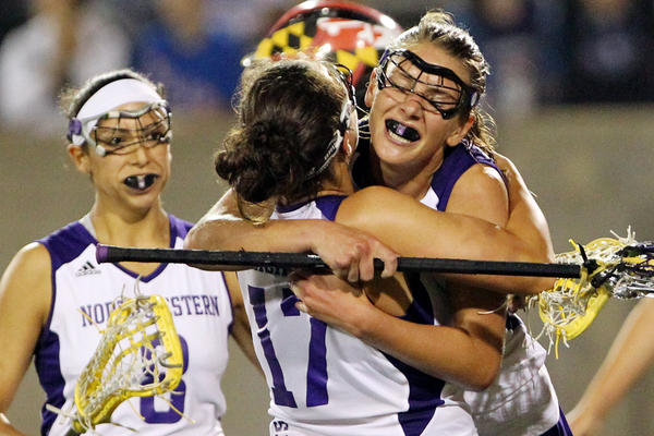 Lacey Vigmostad celebrates scoring during the second half against Maryland. ORG XMIT: USPW-89764
