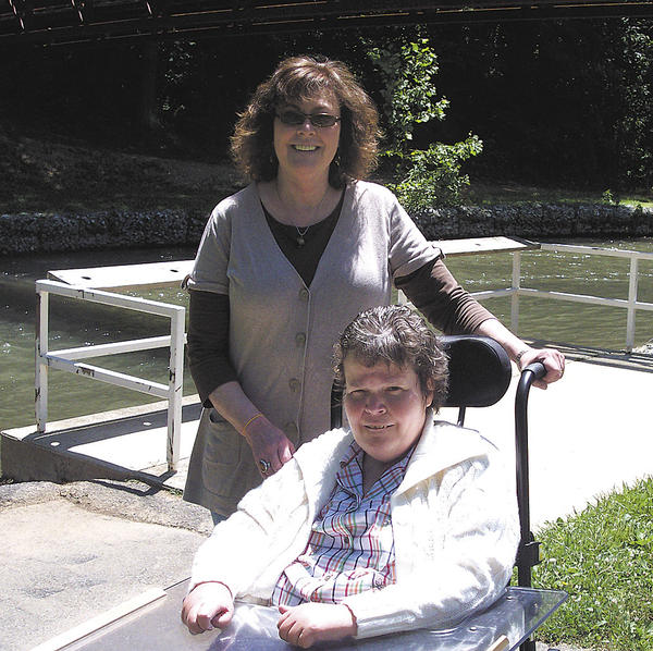 Becky Snyder is shown with her sister, Laura Young, at an outing at Devil's Backbone Park in 2010.