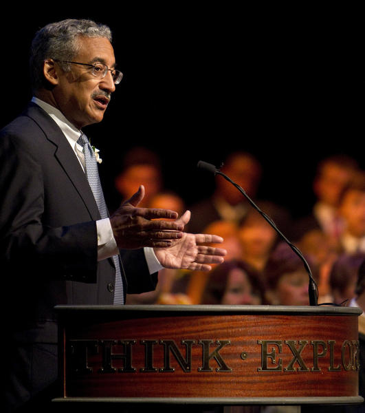 Congressman Bobby Scott speaks at Hampton Roads Academy's graduation ceremony on Saturday, May 26.