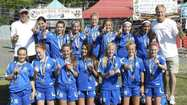 The Corona del Mar Waves, a local girls' under-14 team won the OC Classic Soccer Tournament on Sunday.