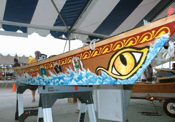 The solar-powered boat created by La Canada Flintridge students for a countywide competition sponsored by the Metropolitan Water District. La Canada took honors for the hottest looking boat.