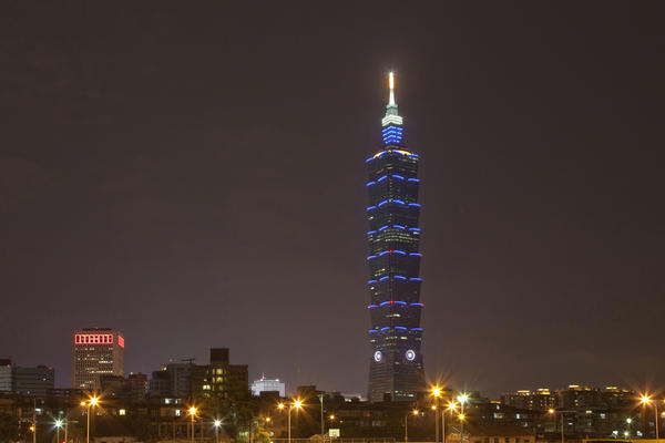 At 1,667-feet-high, Taipei 101 claims the title as the world's second tallest building. The skyscraper was completed in 2004 and has 101 floors.