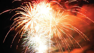 This world-record-setting fireworks display in Lincoln Township featured more than 1,500 shells during a 25-minute span.