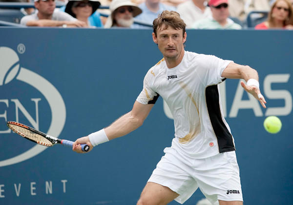Juan Carlos Ferrero during his match against Janko Tipsarevic on day eight of the 2011 US Open at Billie Jean King Tennis Center.