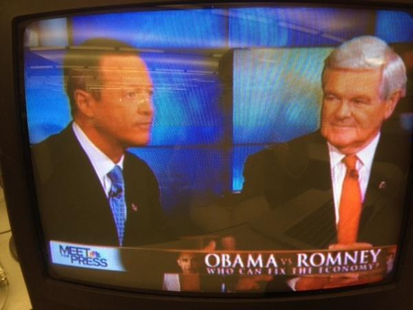 Gov. Martin O'Malley and House Speaker Newt Gingrich spar on Meet the Press.