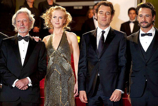 "Phillip Kaufman, Nicole Kidman, Clive Owen and Rodrigo Santoro arrive for the screening of ""Hemingway and Gellhorn."""