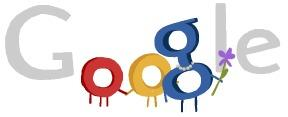 A brief animation helped visitors to Google.com celebrate Mother's Day in America.