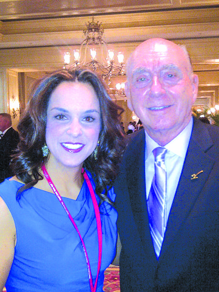 WDKY Fox-56 anchor Jennifer Palumbo covered Dick Vitales annual gala to benefit cancer research this year. Here, Palumbo poses with Vitale, her celebrity crush.