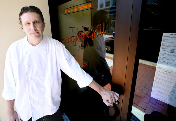 Chris Grossnickle, chef at Brickyard Grill in downtown Hagerstown, says his restaurant is designed to appeal to people who work in the area.