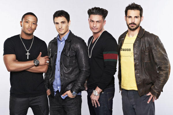 "Romeo, Jeremy Bloom, DJ Pauly D and Jason Cook vie for love on ""The Choice,"" Fox's new celebrity dating game premiering June 7."