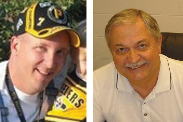 From left, Travis Bishop and Dennis Etherington
