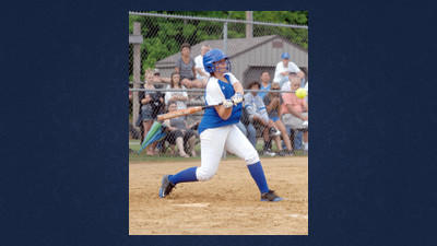 Berlins Keirsten Coughenour drove in two runs with this second-inning double. She drove in five of Berlins six runs.