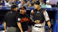 It's not often that Orioles catcher Matt Wieters loses his cool.