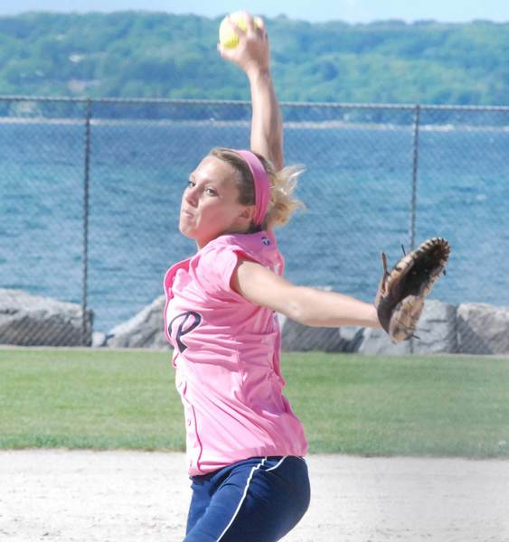 Petoksey junior Annie Hansen tossed a one-hitter and a two-hitter, leading the Northmen to a Big North Conference doubleheader sweep of Traverse City Central on Tuesday.