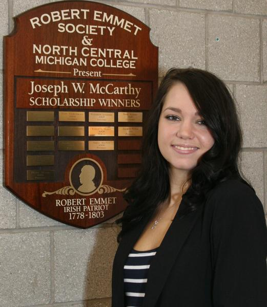 Jessica LeBresh, a student at North Central Michigan College in Petoskey, will travel to Ireland in September on a scholarship.