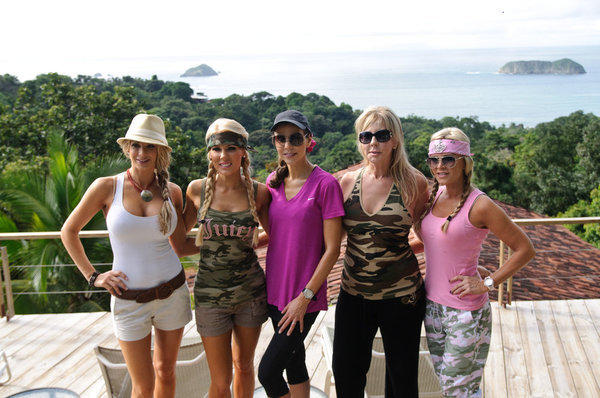 L-R: Alexis Bellino, Gretchen Rossi, Heather Dubrow, Vicki Gunvalson and Tamra Barney.