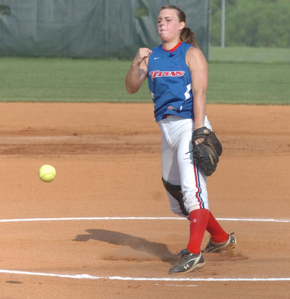 Mercer County pitcher Tabby Shewmaker no-hit Danville for 6 2/3 innings in the Titans 9-0 win Wednesday in the 12th Region Tournament semifinals at Millennium Park. Shewmaker finished with 12 strikeouts and three walks as Mercer earned a berth in the regional final tonight to play Boyle County for a third time this season.