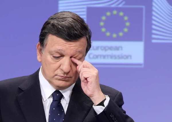 European Commission President Jose Manuel Barroso as he addresses the media on the next steps for stability, growth and jobs at the European Commission headquarters in Brussels.