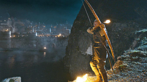 """Blackwater."" On Sunday night, it actually happened -- all-out war on King's Landing. The scale, special effects and battle sequences were everything fans of action and gore could want. Who needs the movies when you have ""Game of Thrones""?"