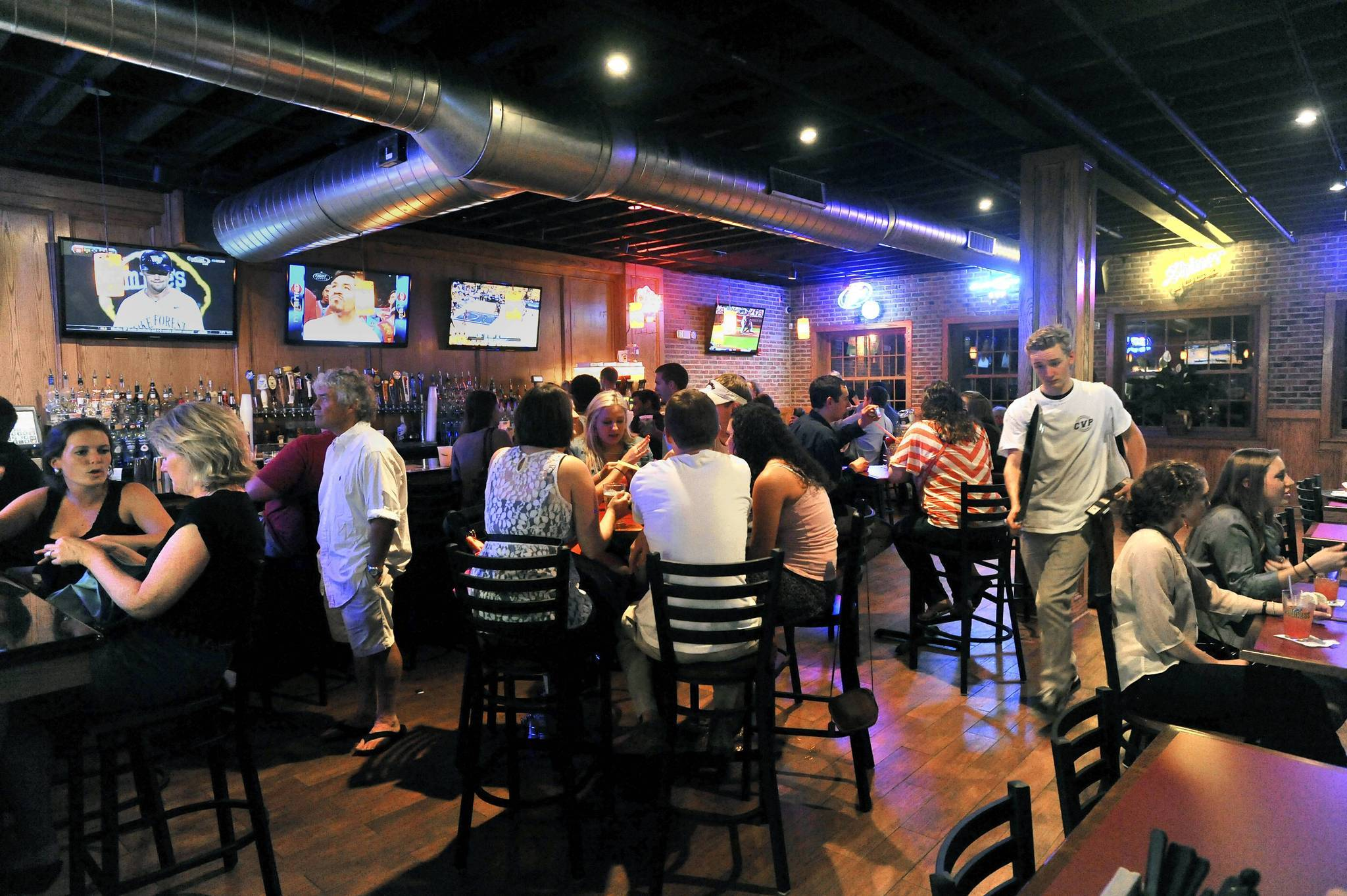 The interior of the recently reopened Charles Village Pub in Towson. The popular establishment was all but destroyed by a fire in January 2011.