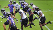 News and notes from Ravens' workout today