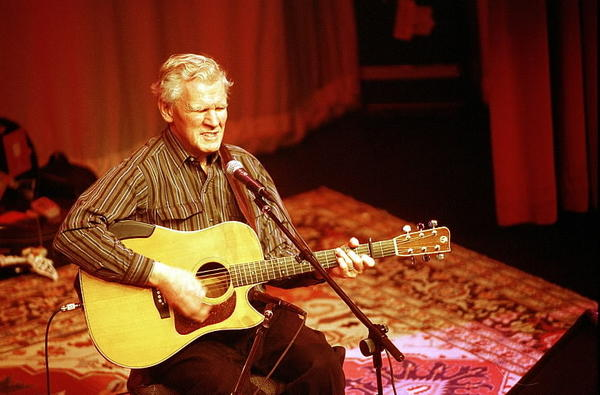 Six-time Grammy winner Doc Watson performs at the Old Town School of Folk Music in 2003.