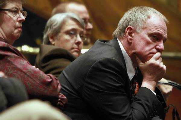 "Gordon ""Randy"" Steidl, listening to a debate last year about ending the death penalty, won an appeal Wednesday to continue his lawsuit against authorities in his wrongful conviction. He spent 17 years in prison, 12 on death row, in a 1986 murder case."