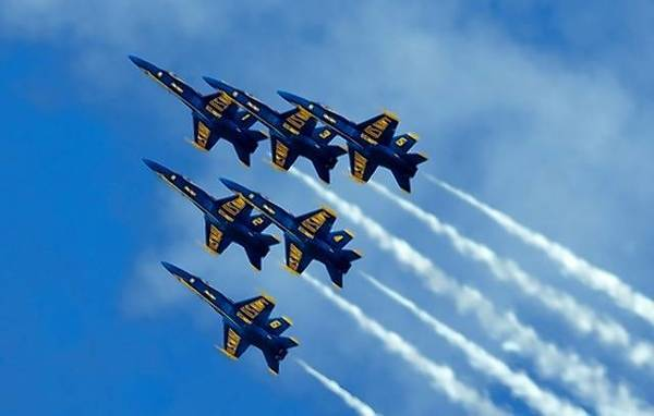 The Blue Angels will perform at the Virginia Beach oceanfront.