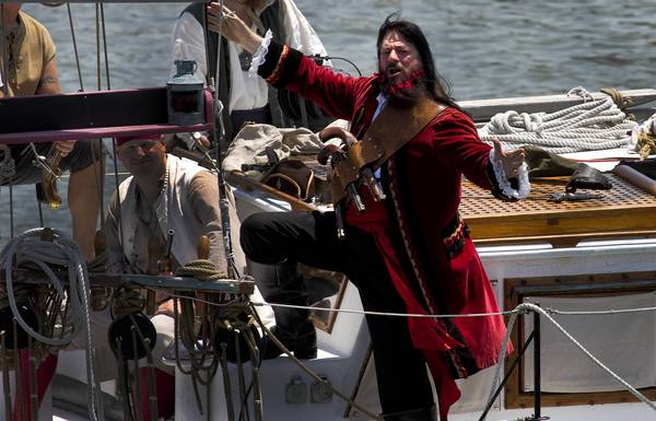Blackbeards calling for a fight. The swashbuckling at Blackbeard Pirate Festival in Hampton goes on all weekend in downtown Hampton.