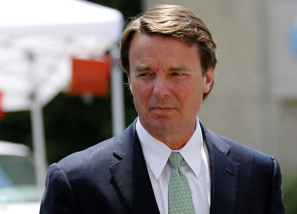 John Edwards returns to a federal courthouse in Greensboro, N.C., during the ninth day of jury deliberations in his trial on charges of campaign corruption.