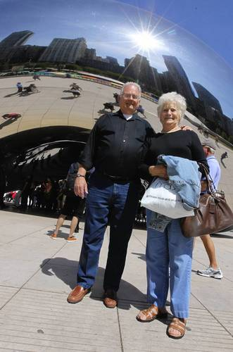 """Bob, 72, retired technical writer; Mary Ann, 70, homemaker<br> <br> <b>Him</b>: $28 at Sears. """"I've got four pairs. Two that I wear out in public.""""<br> <br> <b>Her</b>: $19, also at Sears. """"I usually wear slacks, not jeans."""""""