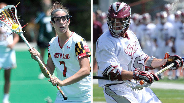 Maryland junior midfielder Katie Schwarzmann and Colgate junior attackman Peter Baum have won the 2012 Tewaaraton Awards as the nation's top college lacrosse players