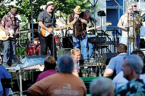 Rudy & The Bluefish entertained a crowd of blues fans Thursday night at College Plaza in Hagerstown during Blues Prelude, the opening event of the Western Maryland Blues Fest. The festival continues Friday and Saturday with performances in downtown Hagerstown and wraps up Sunday with the Family Blues Picnic in Hagerstown City Park.