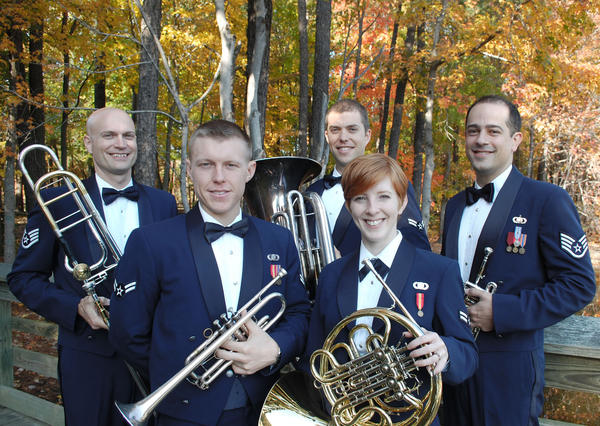 The United States Air Force Heritage Brass Ensemble will perform at 6:30 p.m. Thursday, June 7, at Hagerstown Community College Amphitheater, 11400 Robinwood Drive, east of Hagerstown.