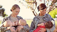 "SAN DIEGO - The pictures drawing the ire, applause, and comments of hundreds of thousands of people Thursday were of two military women <a id=""HHA0000091"" class=""taxInlineTagLink"" title=""Breastfeeding"" href=""http://www.fox5sandiego.com/topic/health/breastfeeding-HHA0000091.topic"">breastfeeding</a> their children while in uniform."