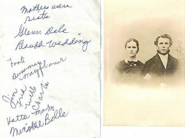 Harriet 'Hattie' (left) and James Franklin Dunsmoor (right) were married in 1863 in Minnesota. They came to the Crescenta Valley area in the mid-1870s and purchased property in Los Flores Canyon, later renamed Dunsmore Canyon.