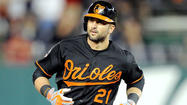 Orioles right fielder Nick Markakis walked into the visting clubhouse of Tropicana Field on Friday afternoon with his right arm in a sling after succesful morning surgery to remove a broken bone from his wrist.