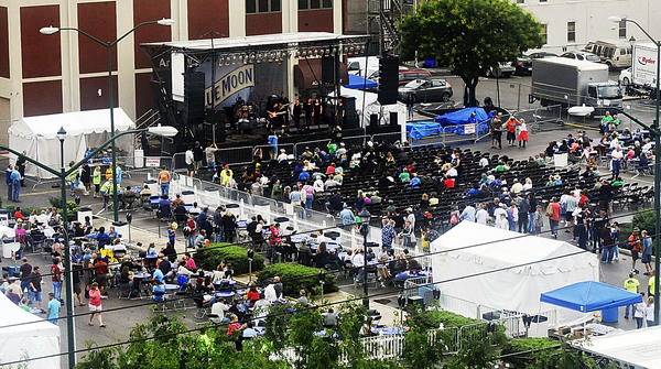 Friday crowd at Blues Fest.