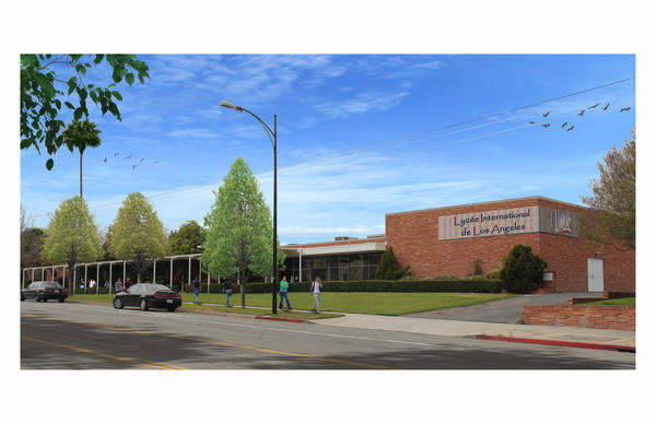 A rendering of the Lyce campus in Burbank.