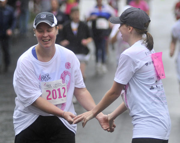 The Susan G. Komen Race for the Cure 5K road race in downtown Hartford.