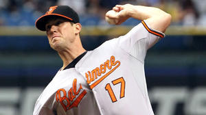 Matusz dazzles as Orioles beat Rays, 2-1, and climb back into first place