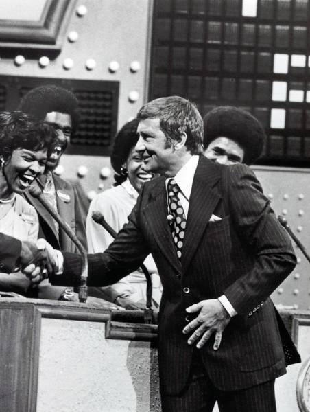 "Richard Dawson hosts the game show ""Family Feud"" on ABC-TV in 1980."