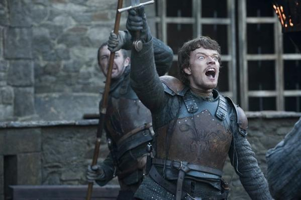 "Alfie Allen says Theon Greyjoy finally gains the respect of his men in the Season 2 finale of ""Game of Thrones."""
