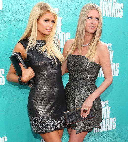 2012 MTV Movie Awards red carpet arrival pics: Paris and Nicky Hilton