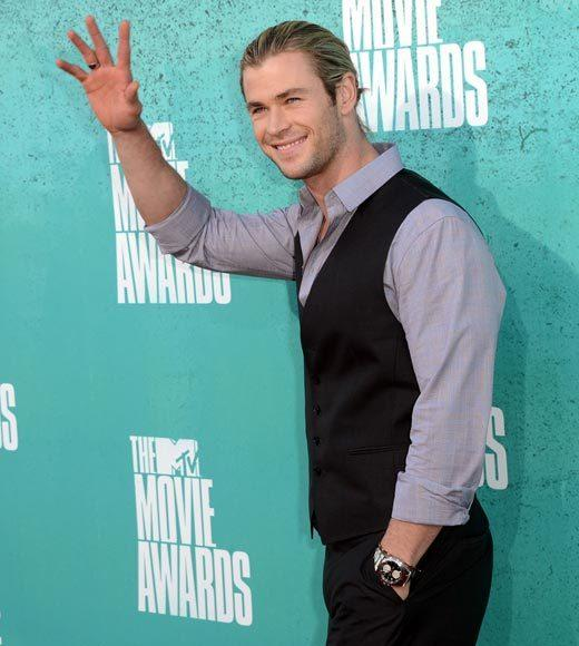 2012 MTV Movie Awards red carpet arrival pics: Chris Hemsworth