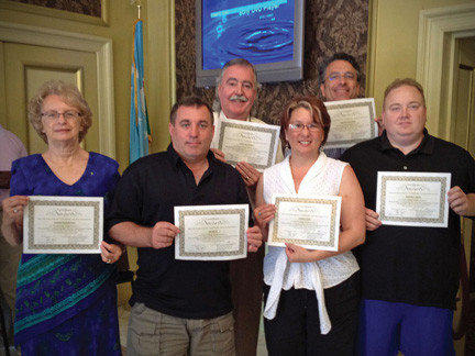 Members of the Rotary Club of Long Meadows who earned certificates in Techniques of Alcohol Management include, from left, Sharon Ruppenthal, Jim Mills, Jim Baker, Donna Long, Magnus Dahlgren and Marvin Wade. Not pictured is Jim McConnell.