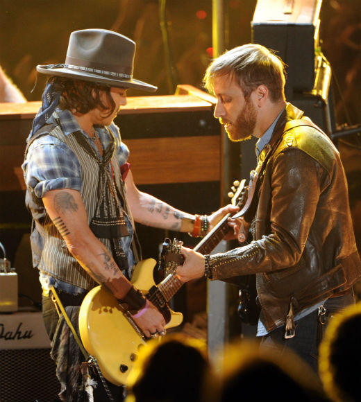 2012 MTV Movie Awards best and worst moments: Johnny Depp is a rock star in the movie industry. So its no surprise that when he was honored with the Generation Award, it was presented by Aerosmiths Joe Perry and Steven Tyler and that in lieu of a traditional acceptance speech, he rocked the stage behind a guitar along with the Black Keys on their song Gold on the Ceiling.   Its like the get out of the business award, basically, said Depp after the performance. Like, alright, youve done too much. And based on the clips, theres something wrong with me.  -- Liz Kelly Nelson, Zap2it