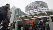 "E3, the video game industry's largest annual trade show, opened Monday in Los Angeles -- but it may relocate in 2013 if issues around the construction of the proposed Farmers Field and rebuilt convention center are not resolved ""imminently,"" said Michael Gallagher, president of the Entertainment Software Assn."