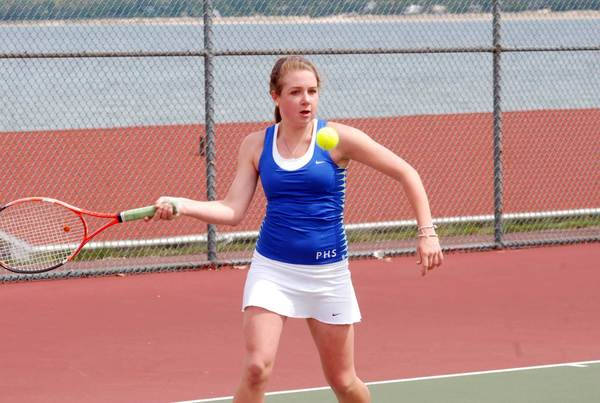 Senior Elise Chapdelaine and her doubles partner, Chandler Cummings, reached the semifinal round of the Division III state finals over the weekend, helping to lead the Petoskey High School girls tennis team to an eighth-place finish in the tournament.